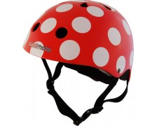 Helm Kiddi Moto Dotti Red Dotty